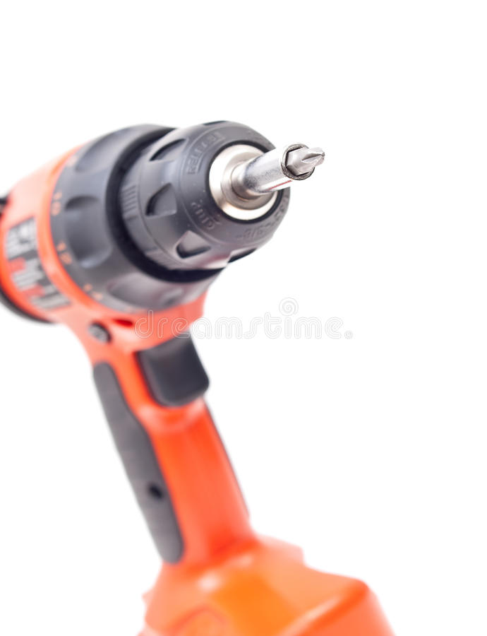 Power Drill. With Focus On The Bit stock photo