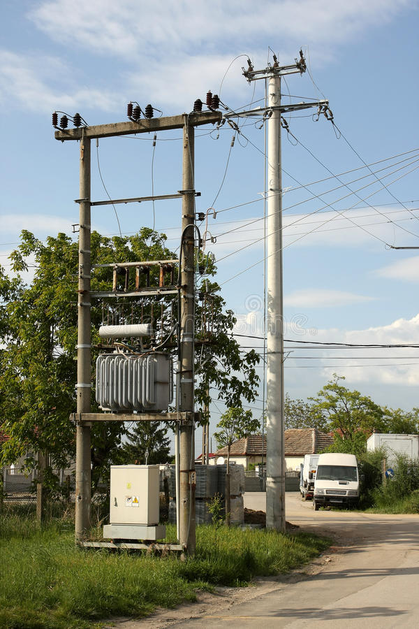 Download Power electric transformer stock photo. Image of network - 19444490