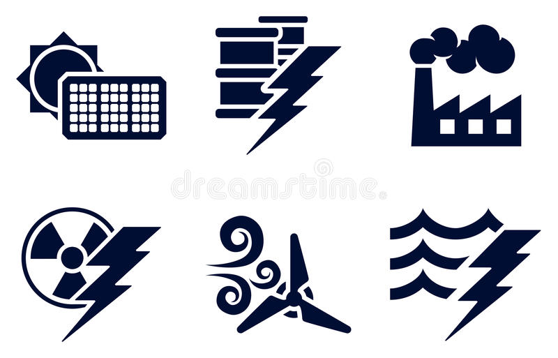 Download Power and Energy Icons stock vector. Illustration of generators - 31003488