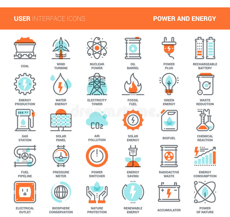 Power and Energy stock illustration