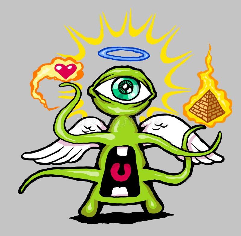 Download Power Eye stock image. Image of monster, angel, magic - 18416955