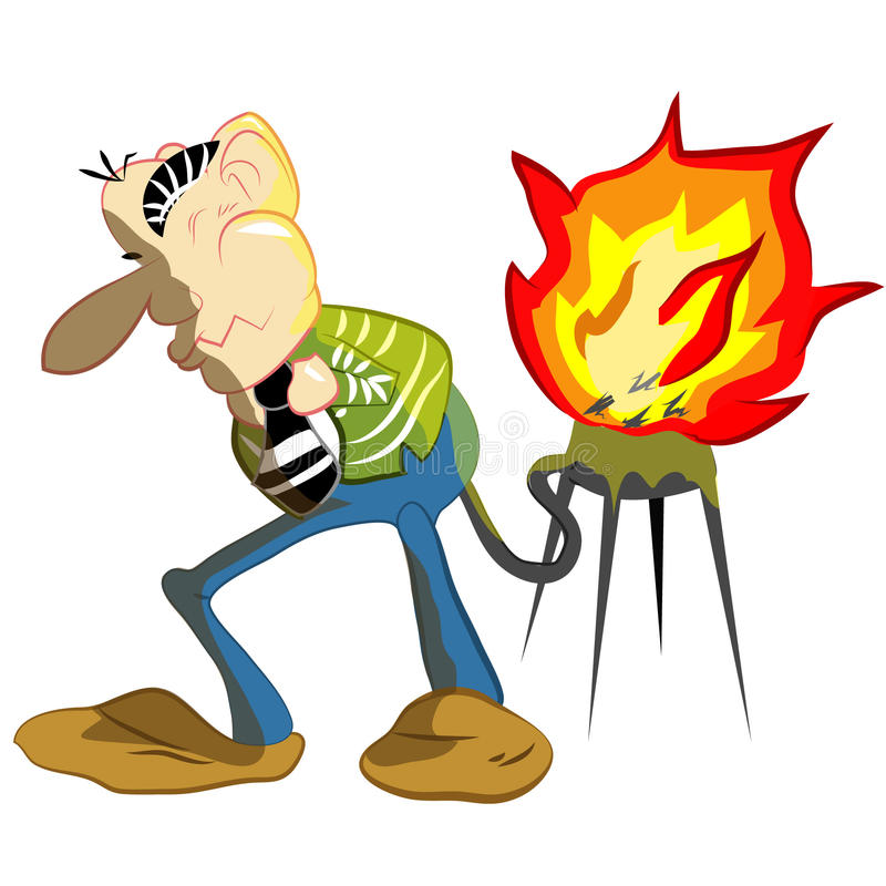Power of. The is reaction reject gass for decompose food. As It have Nitrogen and Methane in gass that is easy catch fire royalty free illustration