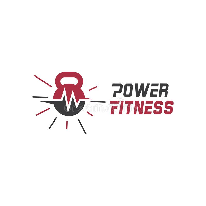 Power fitness body building logo and icon design stock illustration