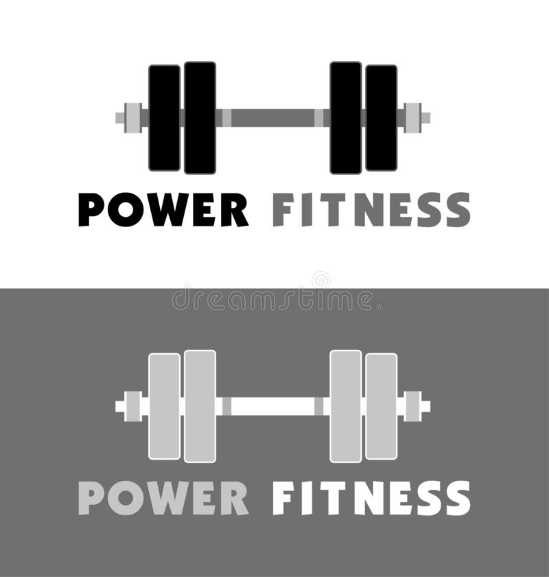 POWER FITNESS ICON. Fitness Gym logo. VECTOR OBJECT. gym icon for your business, web page. color vector.  stock illustration