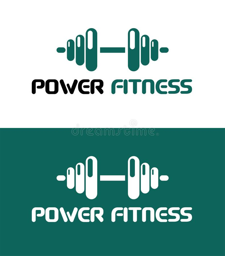 POWER FITNESS ICON. Fitness Gym logo. VECTOR OBJECT. gym icon for your business, web page. color vector.  royalty free illustration