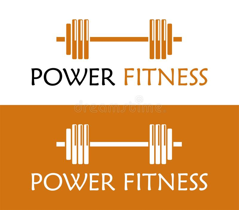 POWER FITNESS ICON. Fitness Gym logo. VECTOR OBJECT. gym icon for your business, web page. color vector royalty free illustration