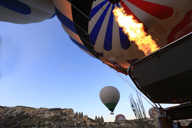 Power fo Helium. Go to balloon for flying royalty free stock images