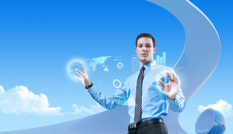 Power of future technologies royalty free stock images