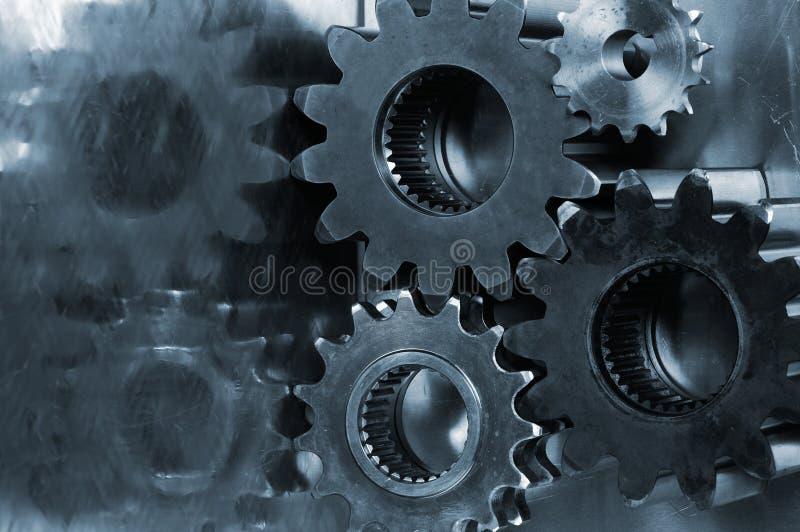 Power gears in blue stock photos