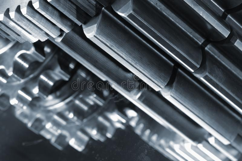 Power gears concept stock photography