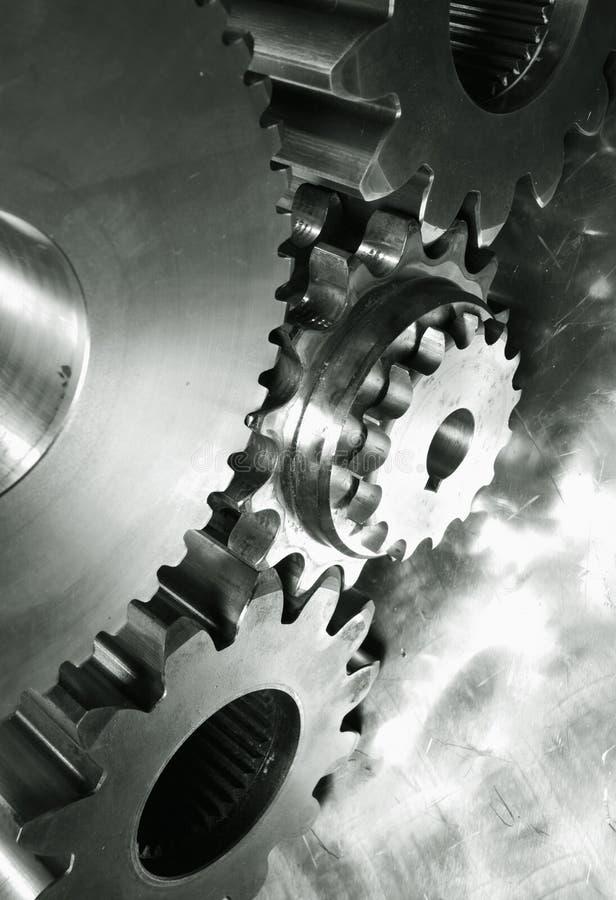 Power gears in dark toning royalty free stock photos