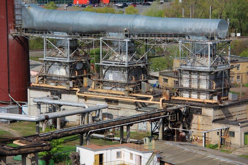 Power-generating boilers stock image