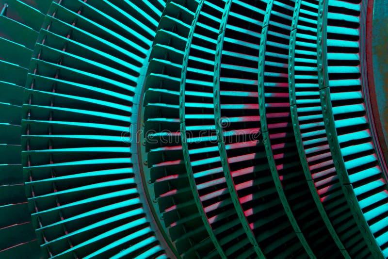 Power generator steam turbine during repair, machinery royalty free stock image