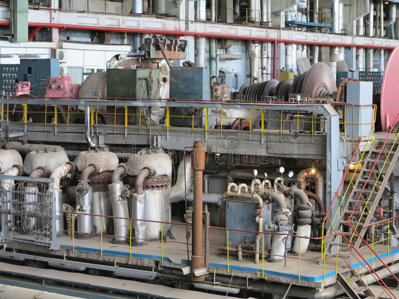 Download Power Generator And Steam Turbine During Repair Stock Image - Image of background, industry: 31346249