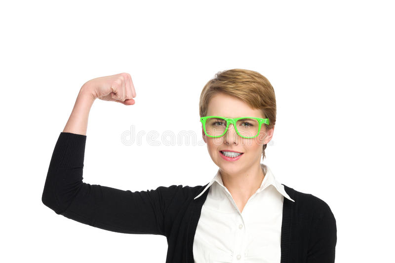 Download Power girl. stock image. Image of intelligence, head - 36949945