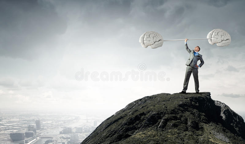 Power in good idea royalty free stock image