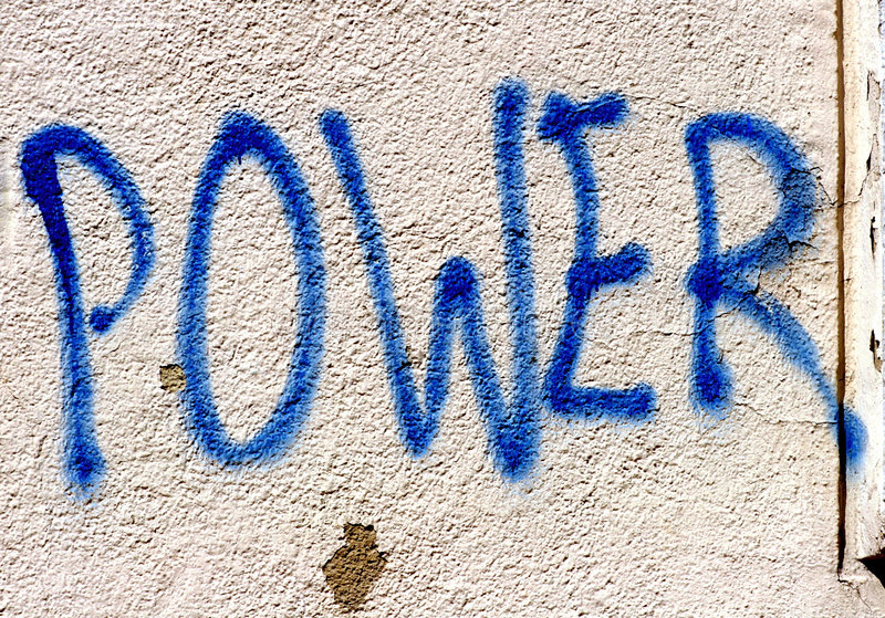 The power of graffiti royalty free stock photography