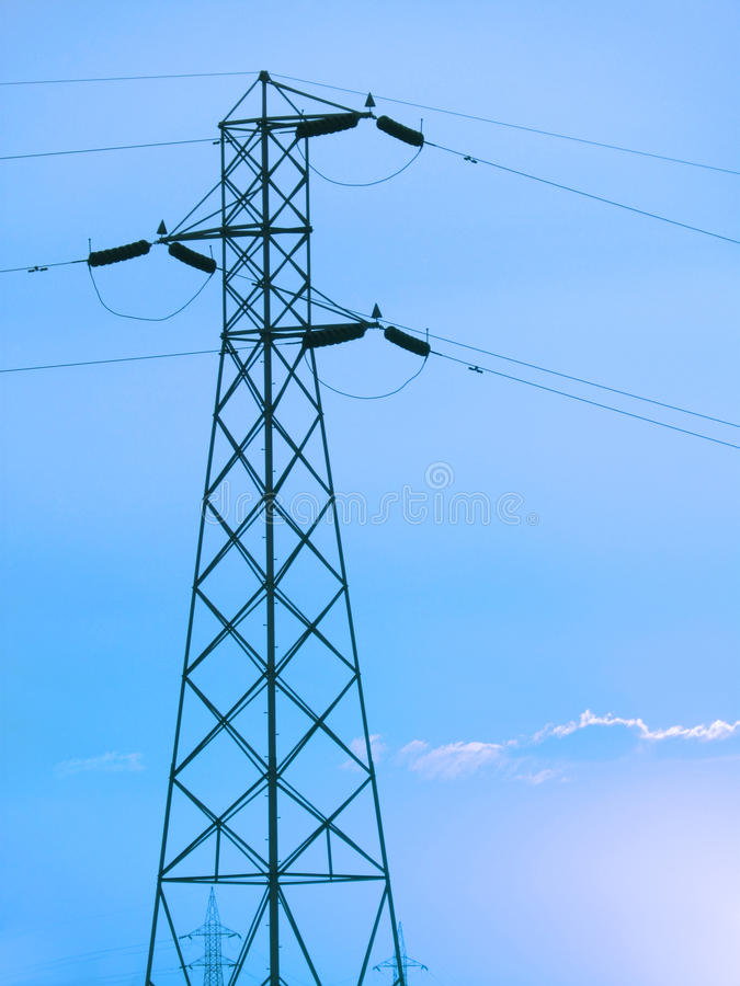 Download Power Grid And Electricity Supply Towers Stock Photo - Image: 30371906