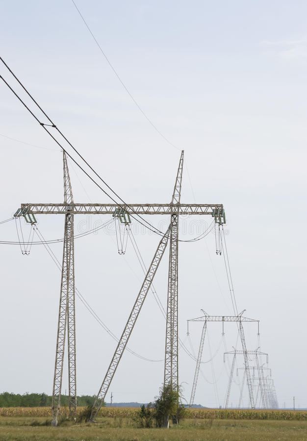 Free Power Grid Of Electrical Energy Royalty Free Stock Photos - 44564008