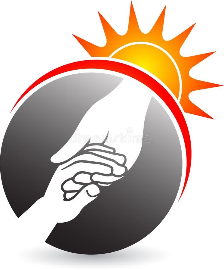 Power helping hand royalty free illustration