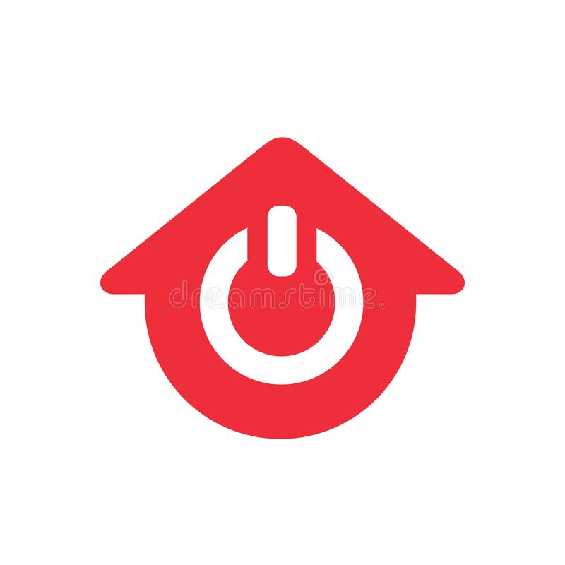 Power house logo design, home and power on icon - Vector vector illustration