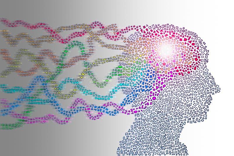 Power of human mind vector illustration