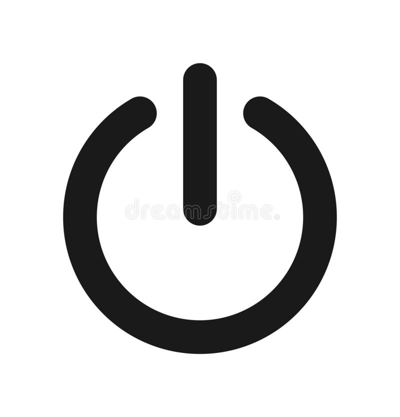 Power icon stock illustration
