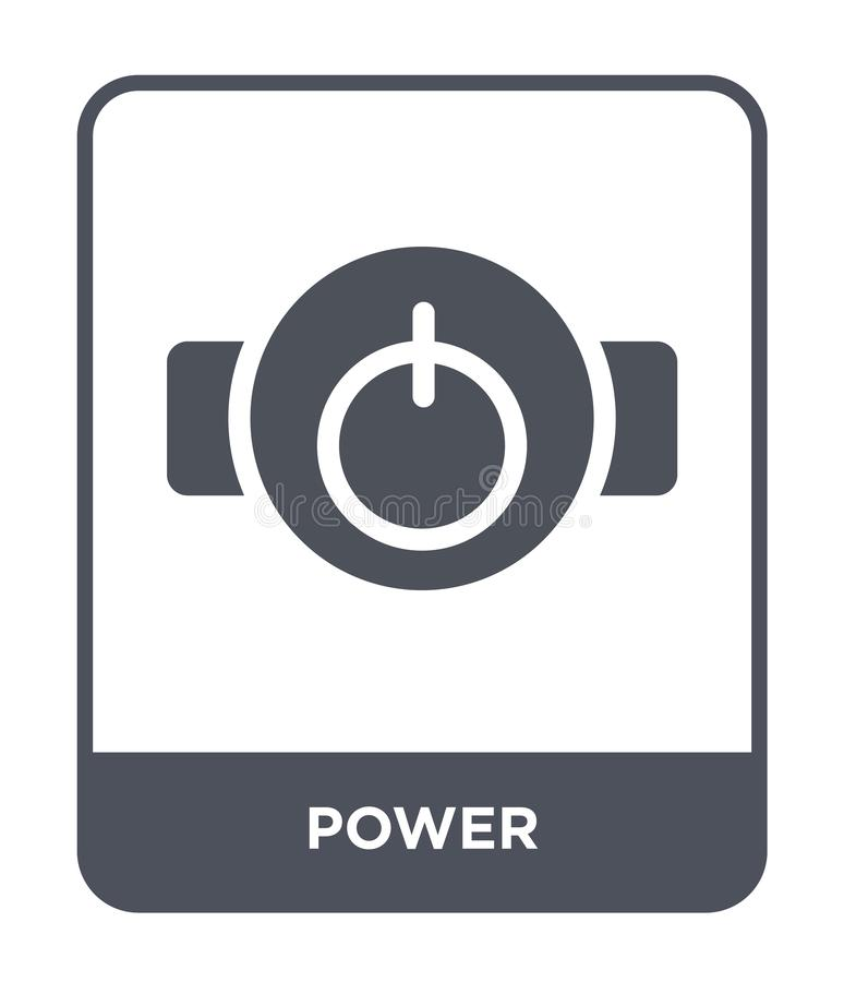 power icon in trendy design style. power icon isolated on white background. power vector icon simple and modern flat symbol for vector illustration
