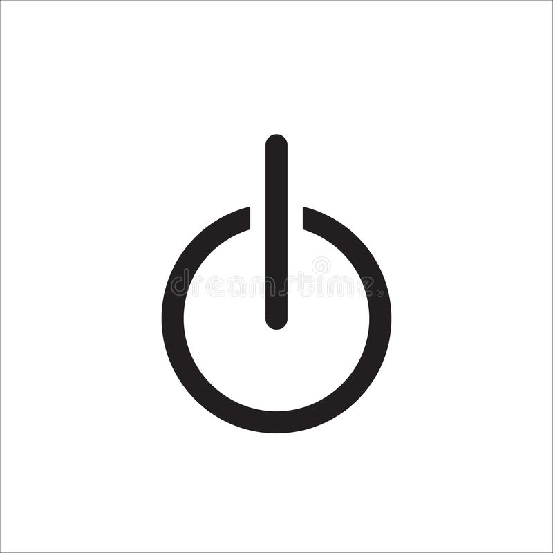 Power icon vector. Flat icon Power ON OFF symbol. Eps 10 vector illustration
