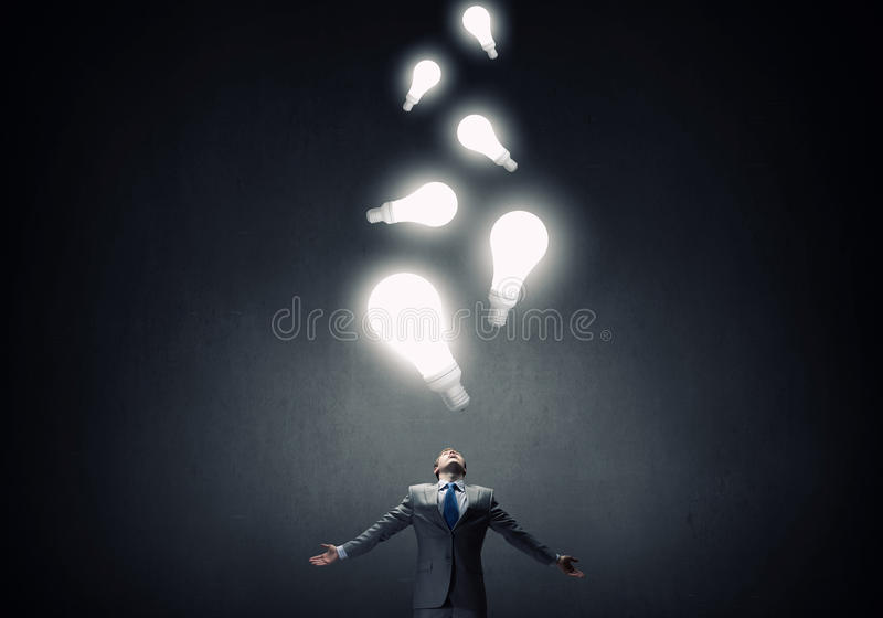 Power in idea royalty free stock photography