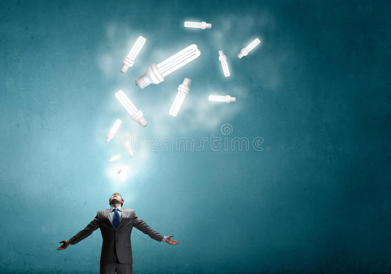Power in idea royalty free stock images