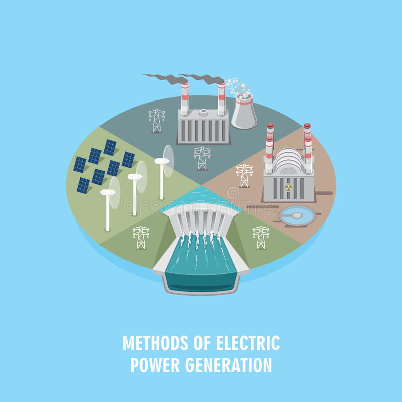 Power industry vector illustration