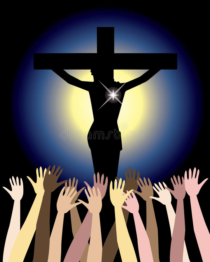 Power of Jesus Christ Easter royalty free illustration