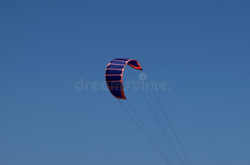 Power kite - Kitesurfing stock photo