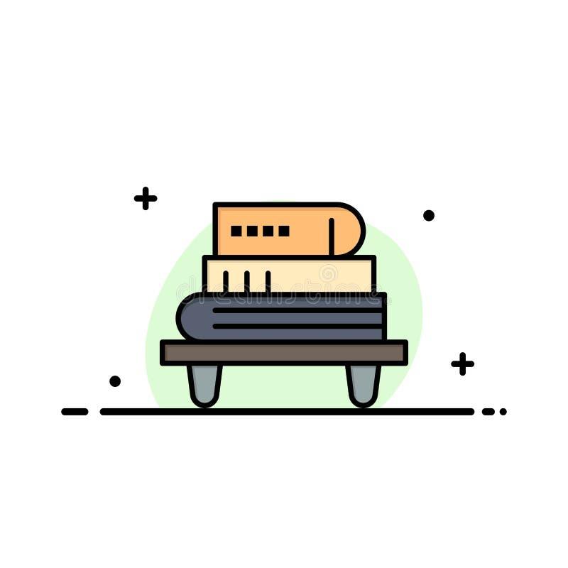 Power, Knowledge, Education, Livres Business Flat Line - Modèle de bannière vectorielle d'icônes illustration de vecteur