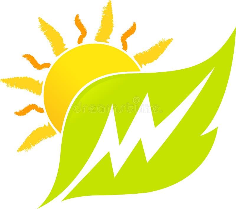 Power leaf vector illustration