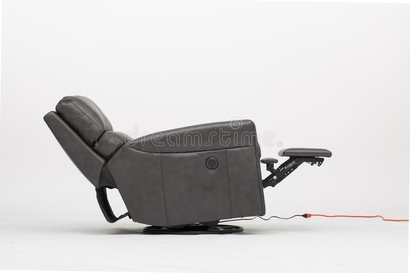 Power Leather Recliner Chair with white background - Image. royalty free stock photo