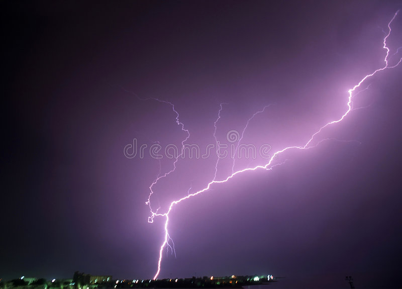 Download Power of lightning stock photo. Image of electric, lightning - 1331196