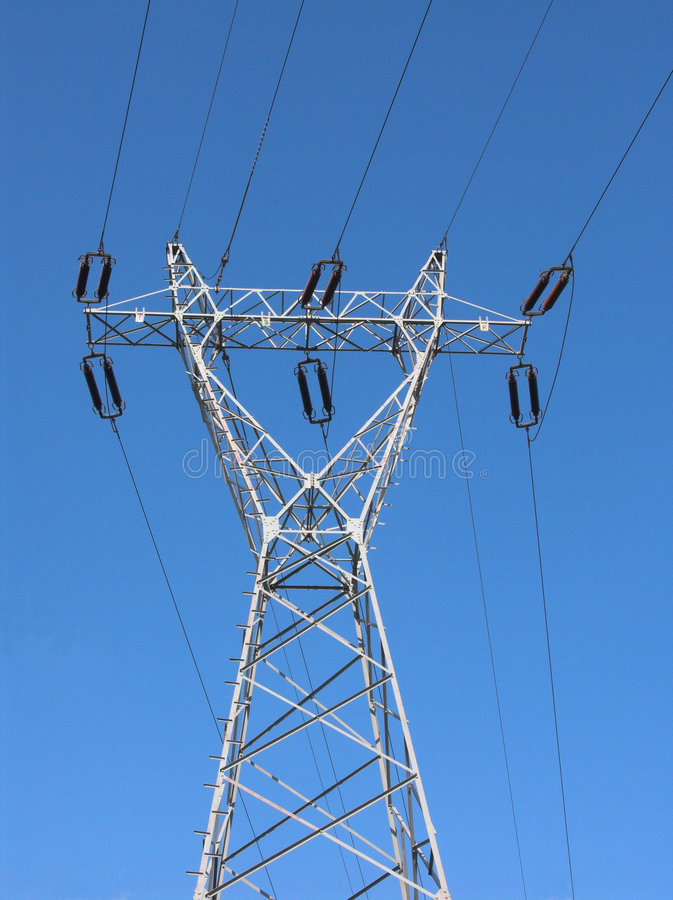 Download Power line stock photo. Image of blue, feed, industries - 156584