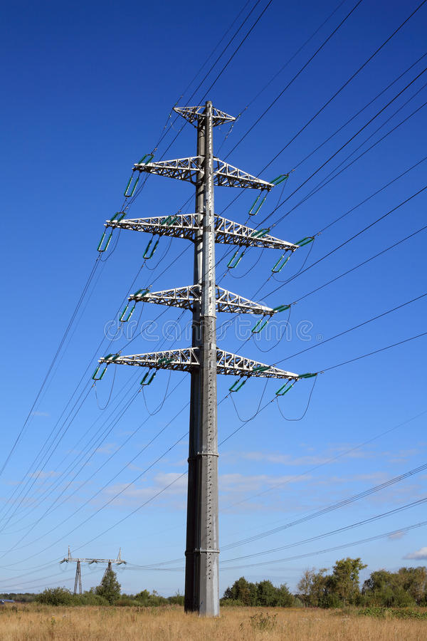 Download Power line stock image. Image of cable, large, metal - 26192695
