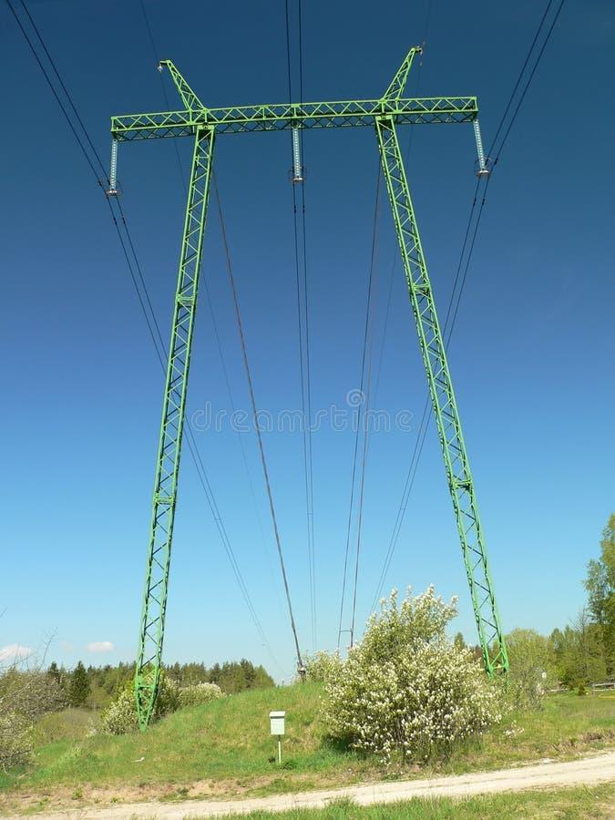 Power line stock image