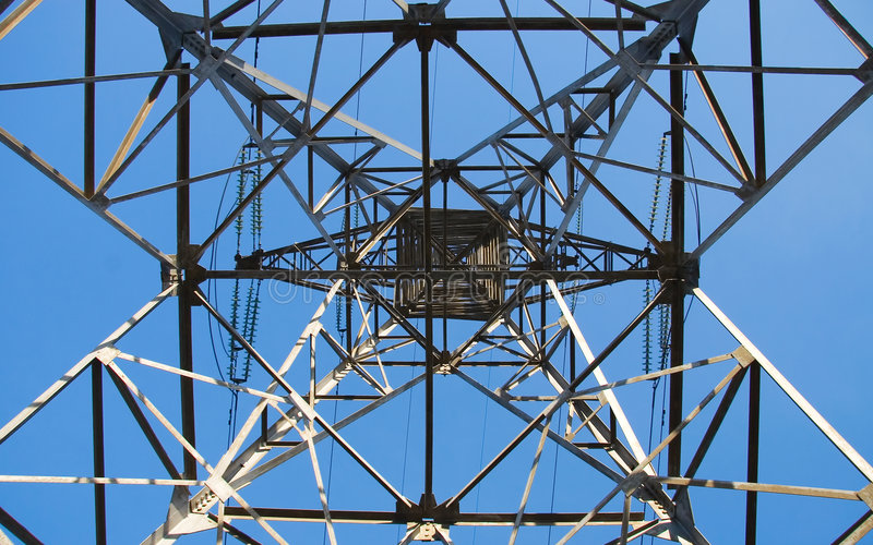 Download Power line below view stock image. Image of falsework - 1807995