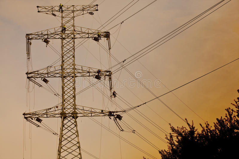 Download Power line construction stock photo. Image of high, electricity - 22268844