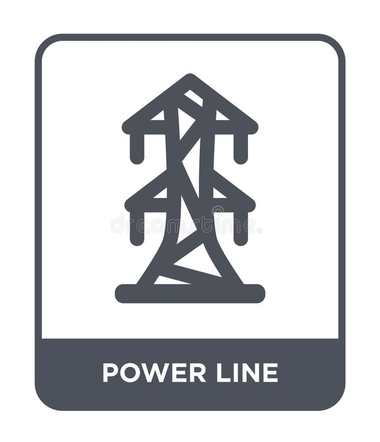 power line icon in trendy design style. power line icon isolated on white background. power line vector icon simple and modern vector illustration