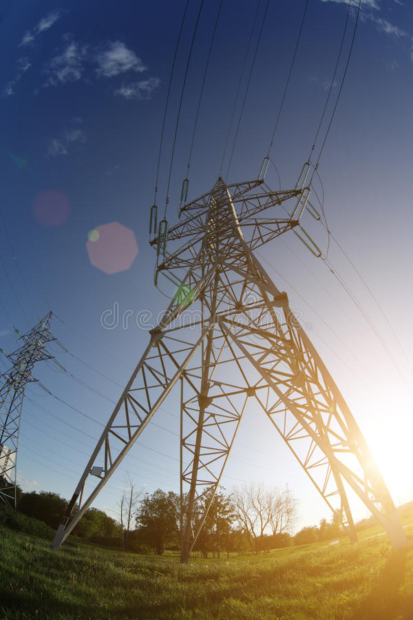 Power Line Perspective Royalty Free Stock Image