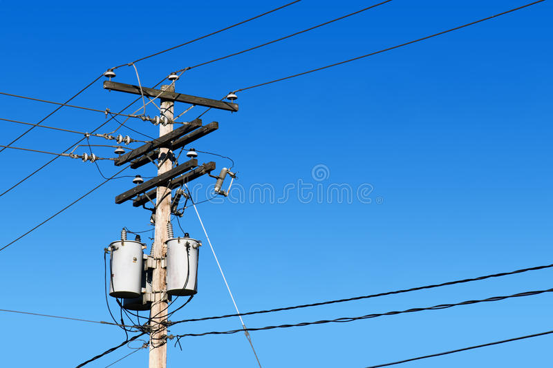 Download Power Line Post And Blue Sky Stock Images - Image: 16948124