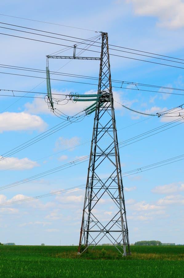 Power Line Pylon Stock Photography