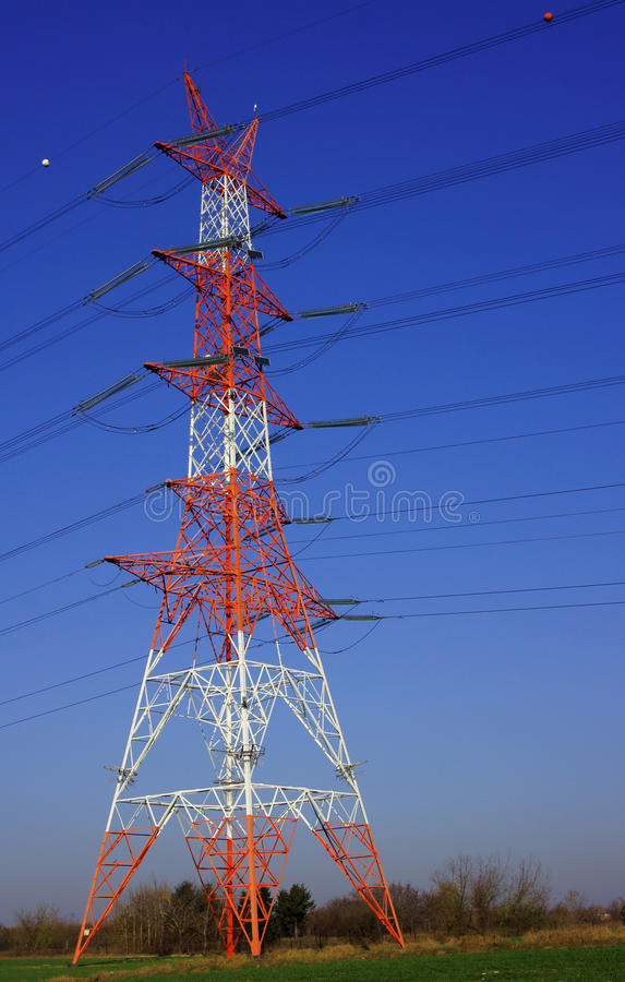 Download Power line pylons stock image. Image of forest, grass - 23495161