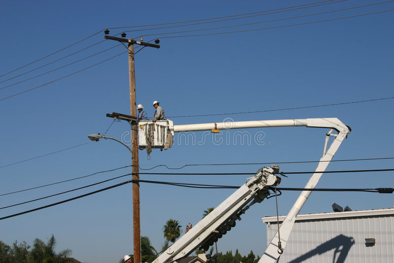 Power line Repair 3 royalty free stock photos