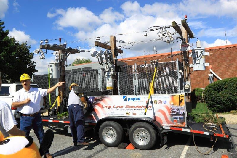 Power Line Simulation Editorial Stock Image